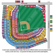 2 Tickets Chicago Cubs vs St. Louis Cardinals 6/4 Wrigley Field