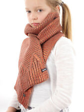 Barts Scarf Knitted Winter Scarf pink Magic warming Pattern metallic