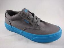Boy's Youth VANS WINSTON Gray/Blue Sole Canvas Casual Skate Sneakers/Shoes NEW