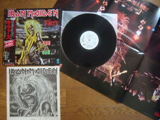 IRON MAIDEN Killers JAPAN White Label PROMO LP Complete W/ OBI POSTER EMS-91016