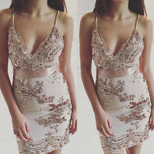 Sexy Women Bodycon Backless Cocktail Dress Ladies Party Evening Prom Mini Dress