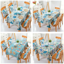 Nautical Tablecloth Table Cover Wedding Party Mediterranean Romantic Ornament