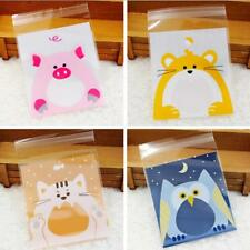100 pieces Self-Adhesive Plastic Seal Bag Cookie Biscuit Candy Gift Wrapping Bag