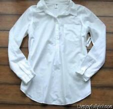 OLD NAVY MATERNITY ~ New! NWT M or L ~ Crisp White Cotton Shirt