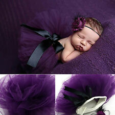Toddler Baby Girl Tutu Skirt+Flower Headband Photo Prop Costume Outfit Bluelans