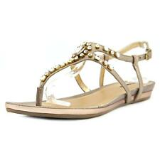 Kenneth Cole Reaction Lost Vegas Women Synthetic Gold Slingback Sandal NWOB