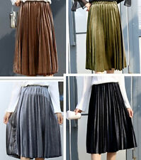 New Ladies Womens Retro pleated Maxi Long Dress Skirt Ladies Skirt UK Size 8-14