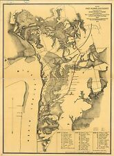 Photo Reprint Antique Lakes And Rivers Map Port Hudson
