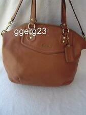 AUTHENTIC COACH ASHLEY BROWN LEATHER NORTH/SOUTH SATCHEL #23684  VGC
