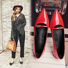Womens Slip On Mary Jane Pointy Toe Flat Ballet Shoes Loafers Casual YJHQ
