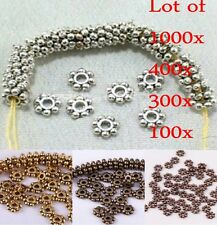 1000pcs/Lots HOT Tibetan Daisy Spacer Metal Beads Jewelry Making Wholesale 4mm