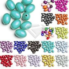 10pcs/25pcs Acrylic Oval Miracle Illusion Spacer Beads 19x13.5x13.5mm/11x8x8mm