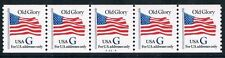 1994 Old Glory G Stamp Plate Number Coil PNC Scott 2890 #A-3324 MNH Strip of 5