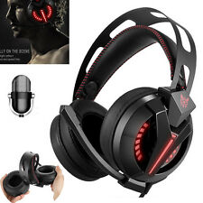 LED Gaming Headset Over Ear Stereo Bass Gaming Headphone W/ Noise Isolation Mic