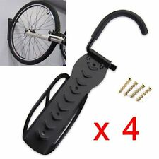 4X STEEL BIKE& BICYCLE STORAGE WALL MOUNTED MOUNT HOOK &RACK HOLDER HANGER STAND
