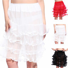 "22"" RED BLACK WHITE SWING 50s PETTICOAT RETRO UNDERSKIRT ROCKABILLY SKIRT TUTU"