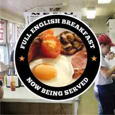 English Breakfast Catering Sign Window Cafe Restaurant Stickers Graphics Decal