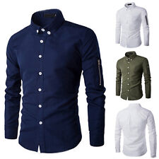 Tops Fashion Mens Luxury Casual Stylish Slim Fit Long Sleeve Casual Dress Shirts