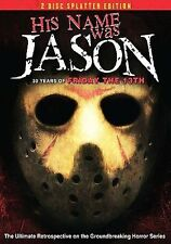 HIS NAME WAS JASON (DVD, 2009, 2-Disc Set, Splatter Edition) NEW