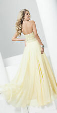 New Tony Bowls Yellow 115560 Beaded Sweetheart Prom Pageant Formal Evening Dress
