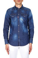 Dsquared Shirt % MADE IN ITALY Man Denim S74DM0005S30341470-