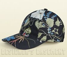 GUCCI black signature FLORA by KRIS KNIGHT Baseball Hat cap NWT Authentic $365!