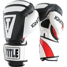 Title Boxing Infused Foam Ignite I-Tech Hook and Loop Bag Gloves - Black/White
