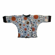 Baby Boy Blue Sport Ball Long Sleeve Shirt - 4 Preemie and Newborn Infant Sizes!