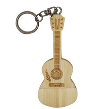 Wooden Guitar Model USB 2.0 Flash Drive Memory Storage Stick Pen for Laptop