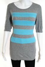 Marc By Marc Jacobs Gray Blue Striped Short Sleeve Tee Shirt Size Large