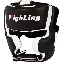 Fighting Sports S2 Gel Training Boxing Headgear - Black/White