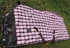 Horse Cotton Sheet Blanket Rug Summer Spring Pink 5339