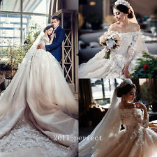 2017 Luxury Beaded Wedding Dresses White Ivory Lace Applique Bridal Gown Custom