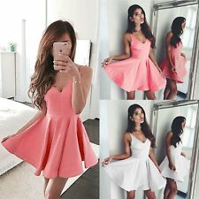 Fashion Women Summer Sleeveless Bodycon Casual Party Evening Cocktail Mini Dress