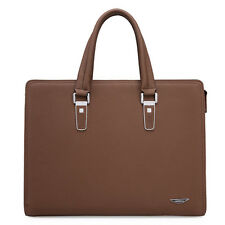 Men's Genuine Leather Vintage Briefcase Laptop Work Attache Case Shoulder Bag