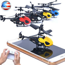 RC 2CH Mini RC Helicopter Radio Remote Control Aircraft Micro 2 Channel Drone US