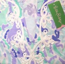 LAST ONE - New Lilly Pulitzer MARINA DRESS M Lilly's Lilac Nice Ink Jersey NWT