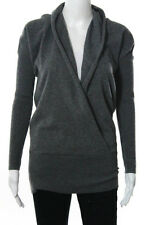 Vince Gray Cashmere Crossover Front V Neck Sweater Size Extra Small