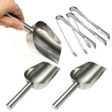 3x StainlessSteel Metal Ice Scraper Food Buffet Candy Bar/Ice Scoops + Clip Sale