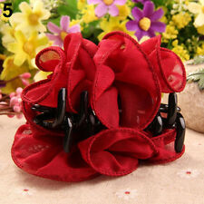 Flower Chiffon Hair Clip Hair Claw Clamp Wedding Party Lady Accessory Little