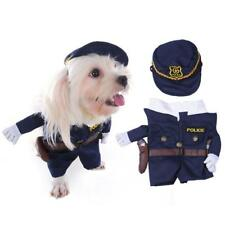 Cute Dog Cat Funny Police Cosplay Costume Pet Fancy Party Dress Pet Supplies