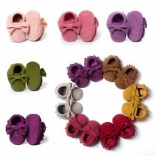 Toddler Baby Kid Soft Sole Crib Suede/Leather Shoes Boy Girl Anti-Slip Sneakers