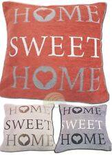 Panache Home Sweet Home Cushion Cover Silver Warm Wording Sofa Bed