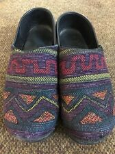 Dansko Knit Multicolor Women's Clogs Sz 39 Us 8 M