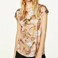New Womens Ladies Crew Neck Floral Print Short Sleeve T-Shirt Blouse Tops Tee