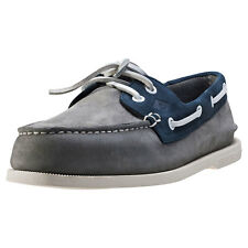 Sperry A O Washable Mens Boat Shoes Grey Navy New Shoes