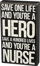Kellis Gift Product Suppliers 33805 - Save One Life Nurse Wooden Box Sign