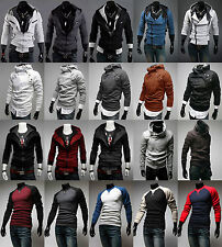 NEW Men Top Designed Hoodie Jacket Coat Long Sleave Sport Sweater Shirt Clothing