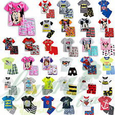Kids Baby Boys Girls Short Sleeve T-shirt Shorts Pants Outfit Summer Clothes Set