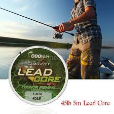 Lead Core Camouflage  Leadcore Braided Fishing Line 45lb 5m   Hair Rigs S2L3